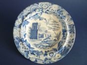 Marked Don Pottery 'Named Italian Views - Tomb of Theron at Aggrigentum' Pearlware Soup Plate c1820 #3